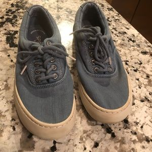 Sperry canvas topsiders sneakers 8.5 light blue